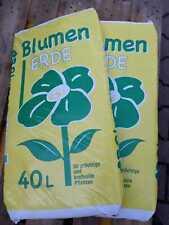 80 Liter (2x40L) Universal Blumenerde Pflanzerde Gartenerde Topferde Erde NEU
