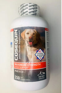 Nutramax Cosequin Maximum Strength Joint Supplement Plus MSM 250 Count Dogs 2023