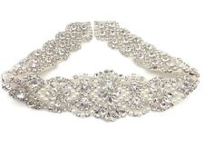 Beautiful Rhinestone Bridal Sash, Crystal Wedding Sash Belt, Rhinestone Belt