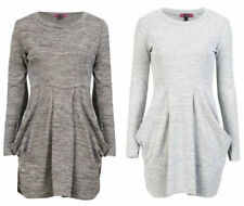 Winter Polyester Dresses for Women with Pockets
