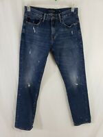 Lucky 221 Straight Leg Mens Denim Blue Jeans Size 30 x 32 Medium Wash Distressed
