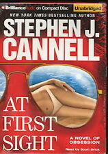 Audio book - At First Sight by Stephen J Cannell  -  CD