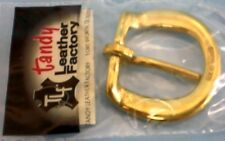 "Tandy Leathercraft 1589-01 Solid Brass 3/4"" Heel Bar Buckle Qty 11"