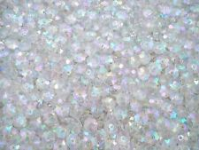 Beads Flower Shaped Plastic 8mm Clear AB 25g Jewellery Craft  FREE POSTAGE