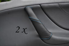 BLUE STITCH FITS MERCEDES CLK W208 97-02 2X DOOR HANDLE LEATHER COVERS