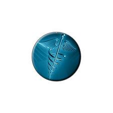 Medical Caduceus Symbol - EMT RN MD - Metal Lapel Hat Round Pin Tie Tack Pinback