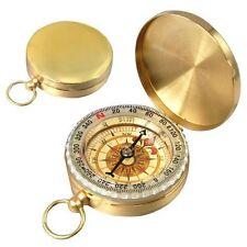 Bussola di campeggio classcia colore ottone di stile dell'orologio da tasca HK