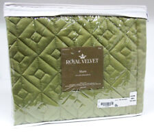 "Royal Velvet Euro Pillow Sham Sage Green King Size 21"" x 37"""