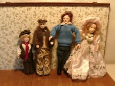 DOLLS HOUSE FURNITURE MIXED LOT 4 PORCELAIN DOLLS 12TH SCALE