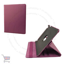 New Smart Rotating Purple Leather Case Cover Stand Holder for Ipad UK