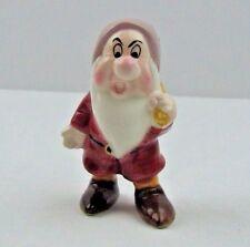Disney Snow White Grumpy Dwarf Figurine Porcelain Vintage Malaysia