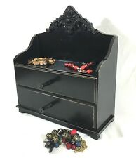 Vintage Jewellry Chest Two Drawer & Costume Jewellry