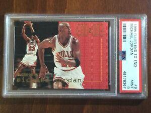 1995 Fleer End to End  — Michael Jordan — MINT PSA 9 — pop 109 (all grades)