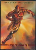 1993 Marvel Masterpieces Trading Card #4 Iron Man