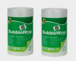 "2pk~Duck 12"" x 30' BUBBLE WRAP Cushioning Fill Box Mail Ship Move Storage 286681"