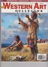 WESTERN ART COLLECTOR MAGAZINE APRIL 2015, PREVIEWS OF WORK FOR SALE AT UP COMIN