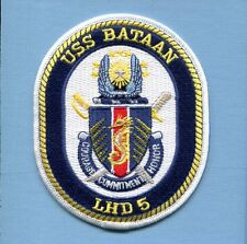 LHD-5 USS BATAAN US NAVY USMC Helicopter Ship Squadron Cruise Jacket Patch