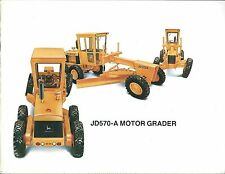 Equipment Brochure - John Deere - 570- A - Motor Grader - c1974 (E3764)