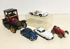 Vintage Schuco Wind Up Tin Litho/Die Cast Cars Set (1 key included)
