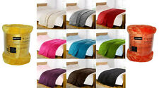 Luxury Soft Faux Fur Mink Throw Sofa Bed Blanket Medium Extra Large 29 Colours