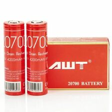 AWT 20700 4200MAH 40A 3.7V Rechargeable Batteries High Drain Battery Pack of 2