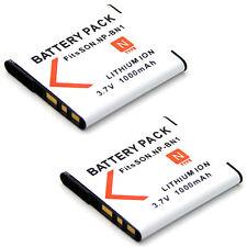 2x 3.7v Battery For NP-BN1 Sony Cyber-shot DSC-WX7 DSC-WX100 DSC-WX150 Camera