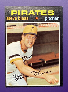 Steve Blass - Pirates 1971 #143 Topps Baseball Card - Mint!