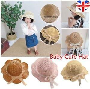 Fashion Children Summer Sweet Lace Straw Hat Baby Girl's Spring Wide Brim Sunhat