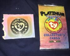 Ty Beanie Babies Platinum Membership Collector's Cards & Metal Coin - Rare 1999
