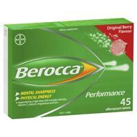 Berocca Performance 45 Effervescent Tablets (Original Berry, Orange & Mango)