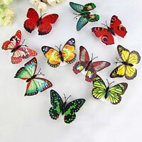 3D Colorful Changing LED Butterfly Night Light DIY Wall Stickers Room Home Decor