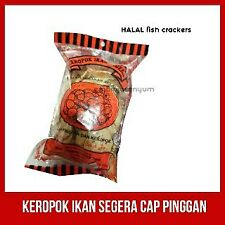 DELICIOUS Dried Fish Cracker Snack Keropok Ikan Dry Seafood Halal + FREE SHIP