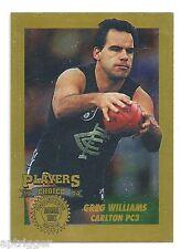 1994 AFLPA Players Choice Collectors Edition (PC3) Greg WILLIAMS Carlton