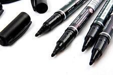 5PCS Fine Dual Heads Marking Pen Marker Waterproofink Thin Nib Black Portable