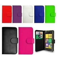 Flip Wallet Leather Case Cover For Nokia Lumia Phones Free Screen Protector DEAL