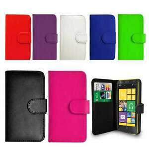 Flip Wallet Leather Case Cover For Nokia Lumia Phones Free Stylus