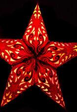 "24"" Red Splash Paper Star Lantern, Hanging Decoration"