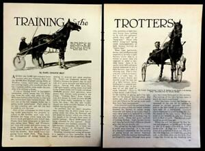 Training Trotters 1929 Harness Racing pictorial Helen Hurley Great Forbes
