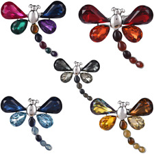 Gift Vintage Style Silver Insect Dragonfly Brooch Pin Badge Ladies Rhinestone
