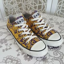 Converse Womens All Star Baroque Trainers Purple/Gold UK 4 Sneakers