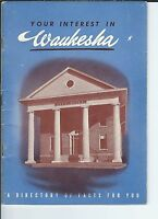 MF-026 - 1946 Waukesha, Wisconsin, Directory of Facts Junior Chamber of Commerce