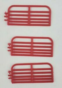 1/64 Standi 10' Cattle gate lot of 3 pieces custom farm display Red