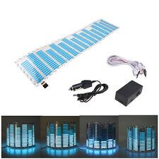 45 x 11cm Sound Music Activated Sensor Car Sticker LED Light Equalizer Glow Blue
