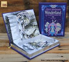 Hollow Book Safe - Alice in Wonderland - Purple Leather Bound Book Safe