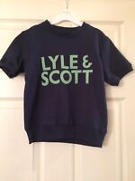 BNWT Lyle And Scott Junior Boys Short Sleeve Jumper, Age: 6/7 Years, RRP £40