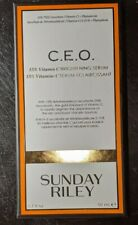Sunday Riley CEO 15% Vitamin C Brightening Serum 1.7 oz /50mL Full Size $122 NEW