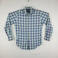 Peter Millar Summer Comfort Mens Plaid Button Down Dress Shirt Size Medium