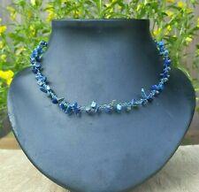*Freedom Tree* Lapis Lauzli Denim Blue Gemstone Necklace Hand Made Chakra