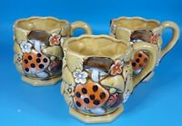 Vintage Mushroom Mugs by Fred Roberts Co1970s Japan Ceramic Coffee Tea Retro Set