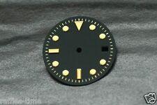 Plain Submariner Sub Watch Dial for ETA 2836 2824 movement Gold Trim Yellow Lume